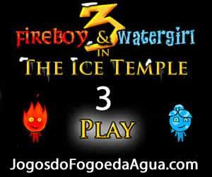 Jogos do Agua e Fogo 3 no Templo de Gelo
